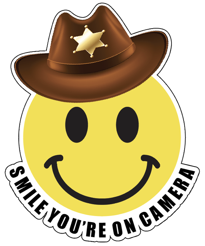 Smile You're on Camera Decal Sticker