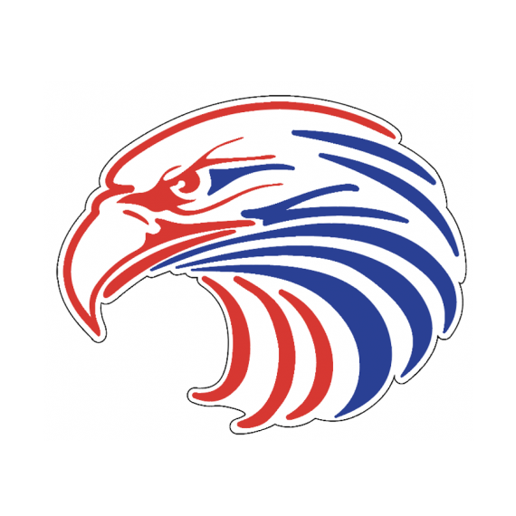 Red, White and Blue American Eagle Decal Sticker