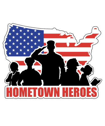 Hometown Heroes USA Decal Sticker