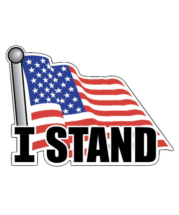 I STAND American Flag Decal Sticker