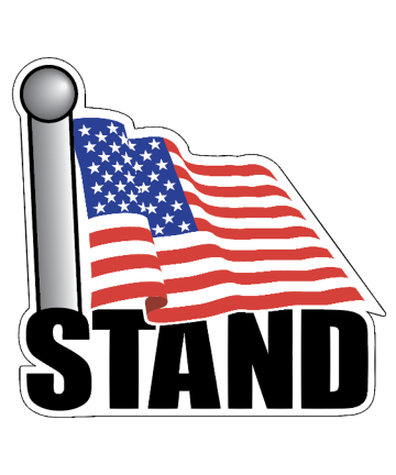 STAND American Flag Decal Sticker