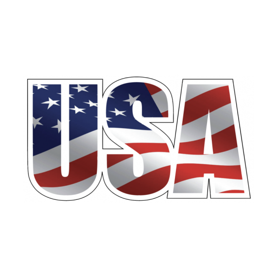 USA with American Flag Decal Sticker