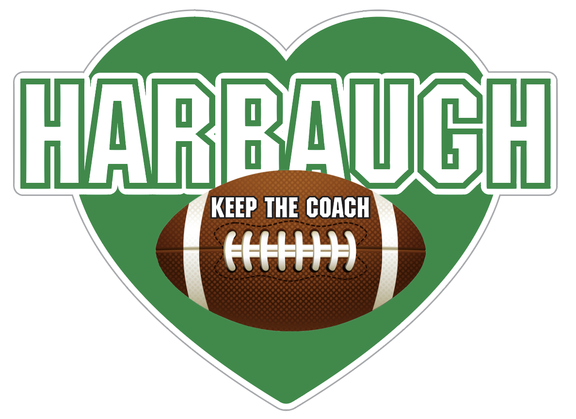 Keep the Coach Harbaugh Heart - Michigan State Colors