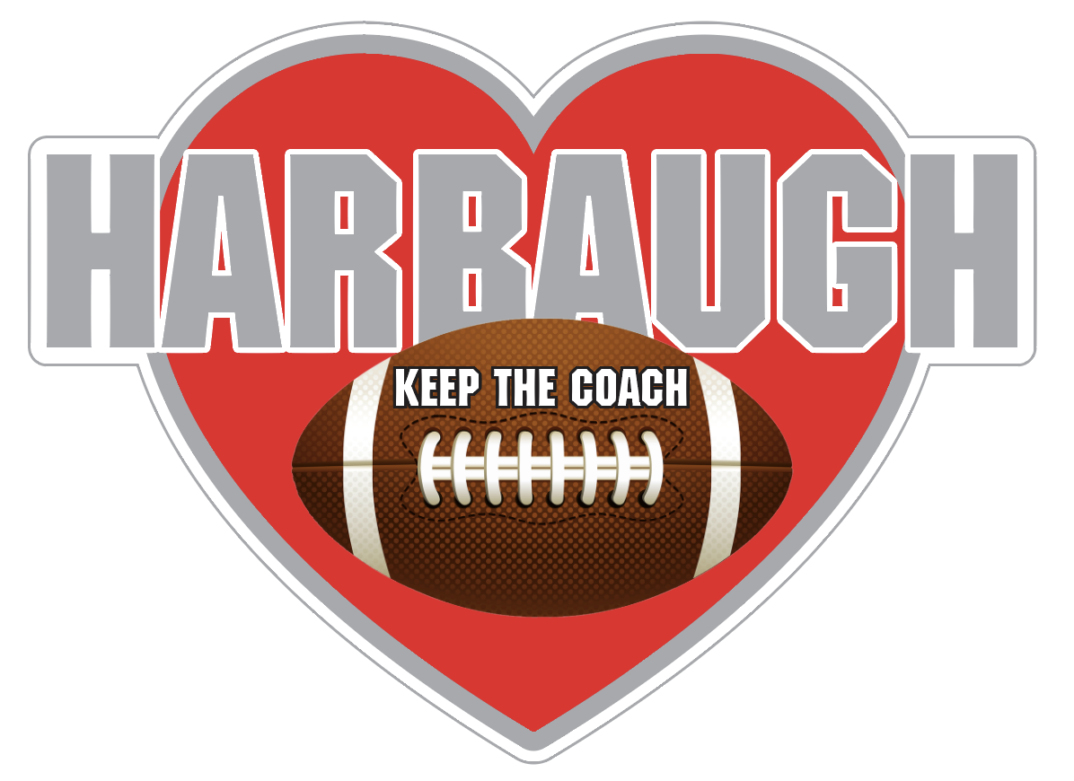 Keep the Coach Harbaugh Heart - Ohio State Colors